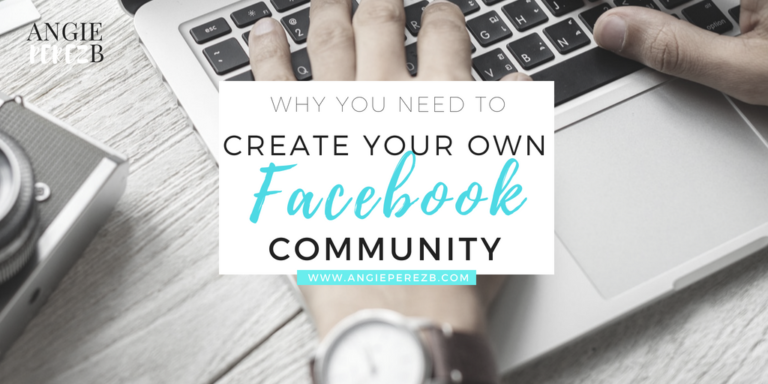 Why you need to create your own facebook group
