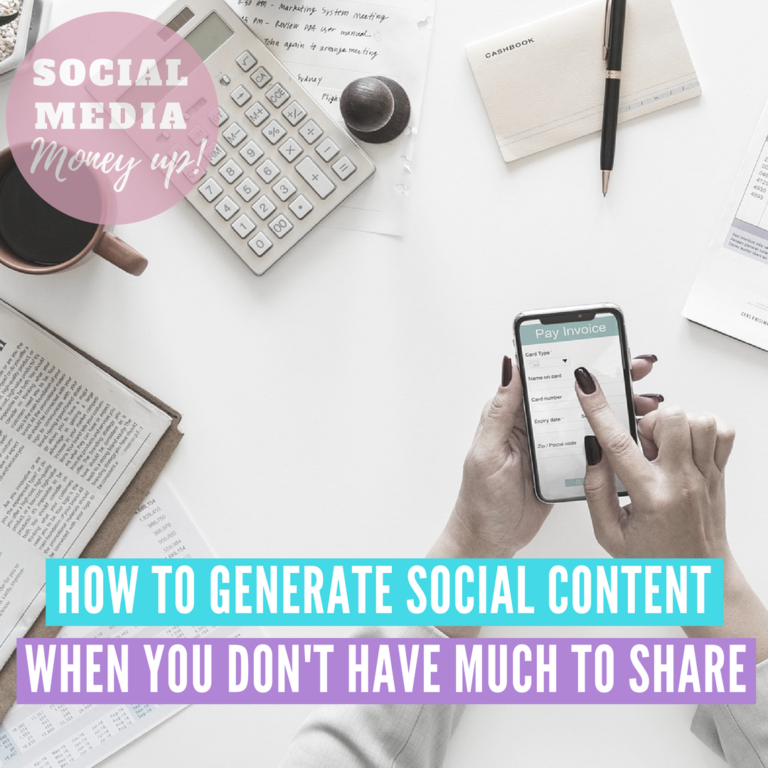 How To Generate Social Content When You Don't Have Much To Share