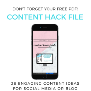 Content Hack Content Ideas for blog and social media